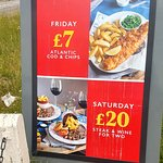 Regular promotions are advertised outside The Hatch