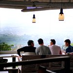 Scenic view from the top of Bandung City