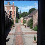 View from our courtyard suite window