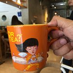 Tea served in mug