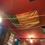 Flag on ceiling