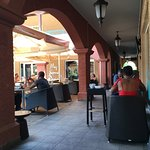 View of the outside tables at the restaurant Rendez-Vouz, Sint Maarten