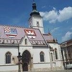 Bild från St. Markus kyrka (Crkva sv. Marka)