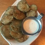 fried pickles were GOOD