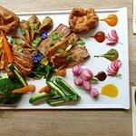 Exotic Sunday roast lunch