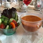 Wonderful soup and salad