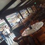 Inner section of restaurant