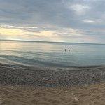 Panoramic beach phot0