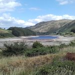 A rather dry Haweswater from car park