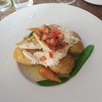 Plaice fillets with new potatoes