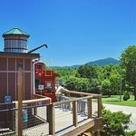 Our side deck which offers views of Little Pisgah and Cane Creek Valley.