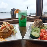 Two of our most popular apps - Fried Green Tomatoes and Smoked Tuna Dip!