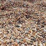 Chesil Beach is pebbles