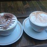 Cappucino and regular Chai latte