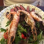 Ribeye with giant prawns!!