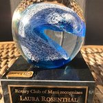 Rotarian of the Year 2017-2018 Laura Rosenthal Rotary Club of Maui — in Kihei, Hawaii.