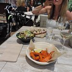Wings, Salad , Bruschetta