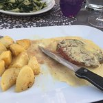 Steak in mustard sauce