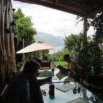 overlooking Lake Atitlan