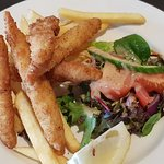 1 of $10 lunch on offer for members 😊 Flounder goujons salad and chips