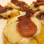 Baked Prosciutto and Manchego Topped Tostones