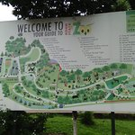 A guide map of the zoo