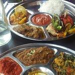 Mixed Thali (top) and Regular Thali (bottom)