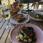 Centennial Vineyard has a picturesque outlook, interesting architecture and a fabulous menu.   T