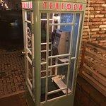 телефонная будка на входе