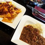 Homemade Chilli & Rice with Cheese and Salsa Nachos