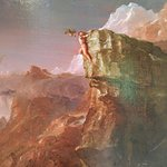Detail of Prometheus Bound (c. 1846) by Cole at Thomas Cole National Historic Site