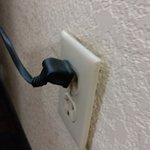 Broken outlet - away from the wall