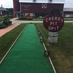 Cherry Pit Spit at Lautenbach's Orchard in Door County