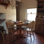 Interior of the Island Cottage. It only holds 22 diners,so be among the fortunate few!