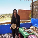 Lunch in the house of a Berber family.