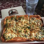 The Crab and Spinach Flat Bread Pizza - SEE - plenty of Crab!!!