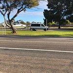 Plenty of parking for caravans opposite