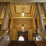 Museum of Freemasonry - Staircase leading to library and museum at Freemasons' Hall