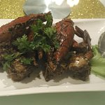 the iconic black pepper crab of Singapore