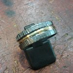 Black silver with 18ct gold