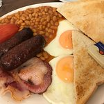Typical breakfast, the best that we have done in England very, very nice 👍