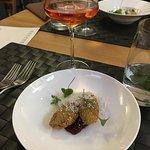 Ter´Raz Rosé, Chateau Le Raz, vyprážané noky z paštéty
