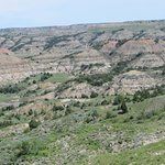 View of Badlands from Painted Canyon Overlook