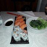 Freshly made sushi a la minute.