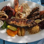 Fish and sea food plate for two