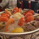 plateau huitres et crevettes