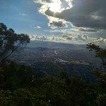 Vista de parte de Bogotá desde el balcon