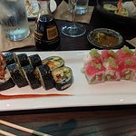 spider roll & pretty in pink rool