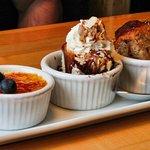 3 dessert plate sampler