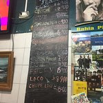 Order from menu on wall